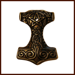 Thors Hammer altmessing
