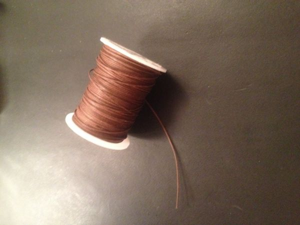 Sattlergarn aus Baumwolle rotbraun