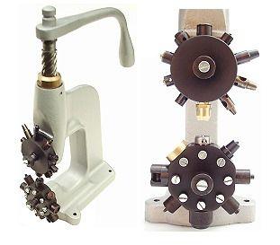 Revolverspindel mit Werkzeugen