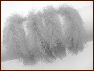 Kaninchenfellschnu grau