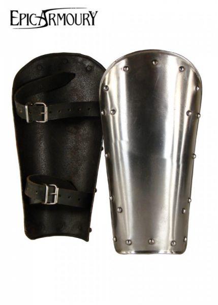 Beinschienen Warrior aus Stahl, Paar S