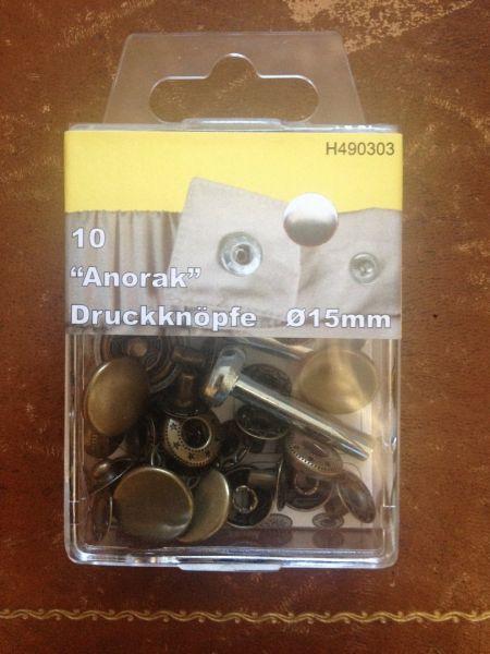 Druckknopf-Sortiment mit Werkzeug