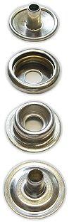 Druckknöpfe aus Eisen mit Ringfeder
