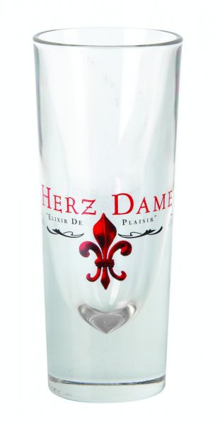Herzdame Glas 2cl