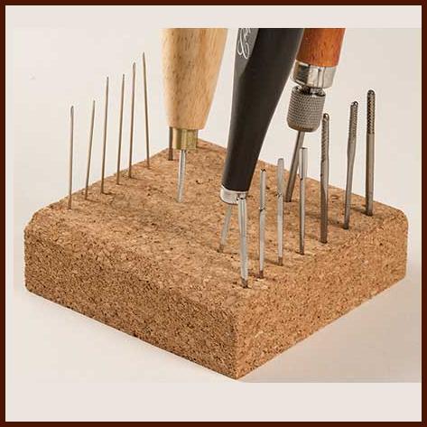 Craftool Block für Ahlen und Nadeln