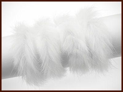 Kaninchenfellschnur weiß