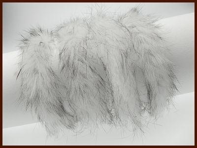 Kaninchenfellschnur weiß/schwarz