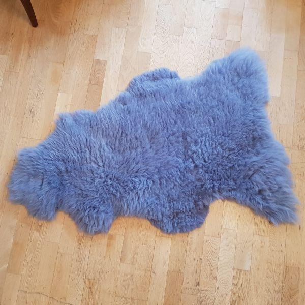 Schaffell Öko blaugrau