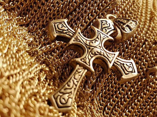 Gotenkreuz Amulette 24 ct