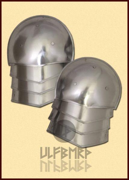 Mittelalter Schulterplatten, vierteilig, 1,6 mm Stahl, Paar
