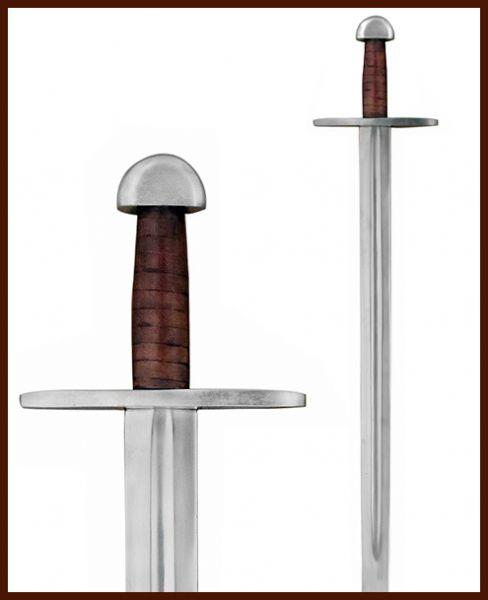 Normannen-Schaukampfschwert mit Lederscheide