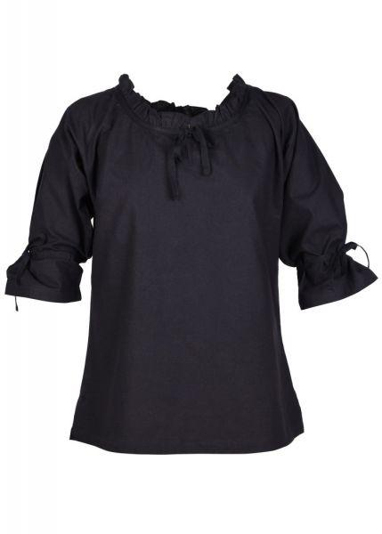 Mittelalterliche Bluse Birga mit 3/4 Arm