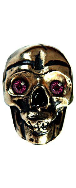 Skull mit zwei Swarowski-Kristallen