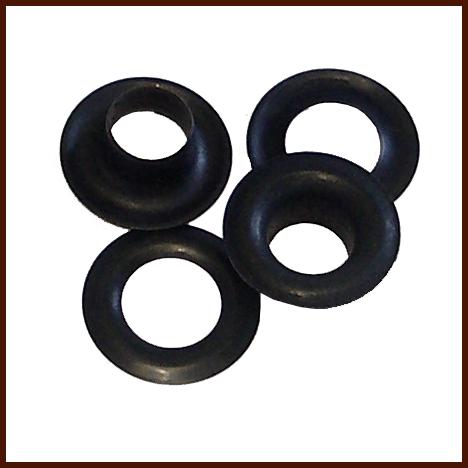 Ösen mit Ringen 4 mm brüniert