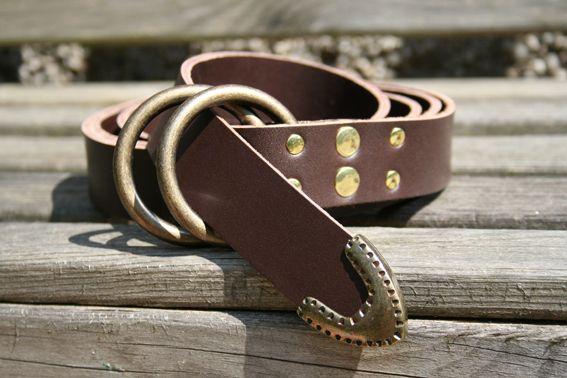Schwertgürtel mit 2 Ringen