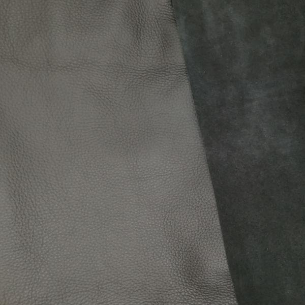 Dickleder, vollnarbig matt 1/2 Haut