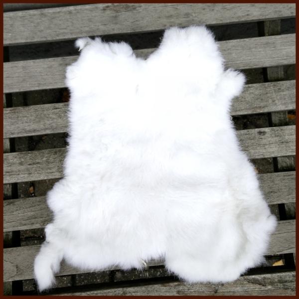Kaninchenfell Schneeweiß