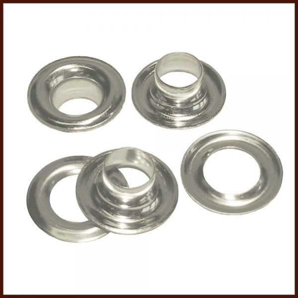 Ösen mit Ringen 4 mm Silber